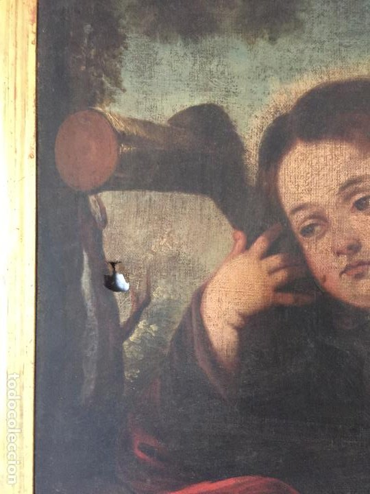 Arte: ÓLEO SOBRE LIENZO NIÑO DE PASIÓN SIGLO XVII - 1000-050 - Foto 16 - 43426843