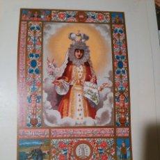 Art: 30 X 21 ANTIGUA GRAN LAMINA CROMOGRAFIA O LITOGRAFIA DE LA VIRGEN DE LA PASTORIZA LA CORUÑA. Lote 75552223