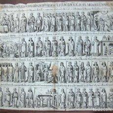 Arte: GRABADO RELIGIOSO, TIPO AUCA, EPISODIOS BIBLIA, MUY ANTIGUO . Lote 75552731