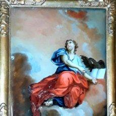 Arte: SAN JUAN EVANGELISTA. PINTURA SOBRE CRISTAL. ITALIA(?). XVIII (?). Lote 75694727