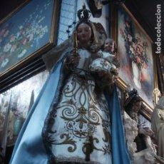 Arte: MAGNIFICA VIRGEN CON NIÑO CAP I POTA CORONAS DE PLATA GRANDES MEDIDAS.. Lote 75760695