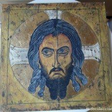 Arte: CRISTO BIZANTINO - OBRA ORIGINAL SOBRE TABLA - ESCUELA DE ARTE - GOMEZ 16. Lote 75805375