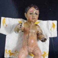 Arte - Niño Jesús, madera tallada y ojos de cristal / Barroco, siglo XVII - 75821371