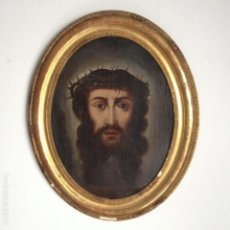 Arte: RETRATO CRISTO. ÓLEO SANTA FAZ. S. XVIII. MARCO ISABELINO. JESUS. IGLESIA. ECCEHOMO. VERÓNICA.. Lote 75861479