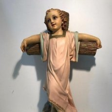 Arte: NIÑO JESUS CON CRUZ, MODELO OLOT . 54CM.. Lote 76075703