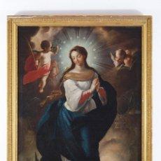 Arte: OLEO/ TELA INMACULADA S. XVIII. JUAN DE MIRANDA, PINTOR CANARIO.. Lote 76077467