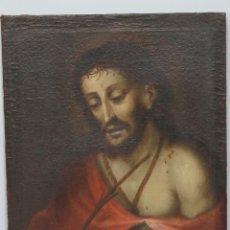 Arte: INTERESANTE ECCE HOMO. OLEO S/ LIENZO. PINCELADA CALIDAD. SIGLO XVII. Lote 76082523