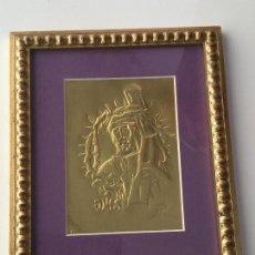 Arte: BAJO RELIEVE EN LATÓN ENMARCADO JESUS NAZARENO (LEÓN). Lote 76530779