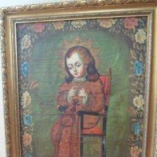 Arte: PINTURA DE NIÑO JESÚS, PINTURA CUZQUEÑA. Lote 76559651