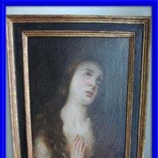 Arte: CUADRO VIRGEN INMACULADA OLEO SOBRE LIENZO S. XVIII MARCO ORIGINAL. Lote 76688191