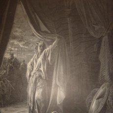 Arte: GRABADO RELIGIOSO, DORÉ-LIGNY, JAHEL Y SISARA, ORIGINAL, BARCELONA,1883, GRAN TAMAÑO. Lote 76785443