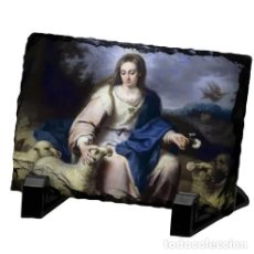 Arte: PIZARRA 15X20 CON LA DIVINA PASTORA. Lote 77056673