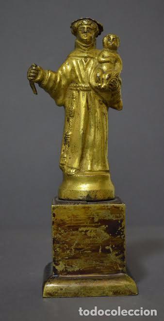 SAN ANTONIO DE BRONCE DORADO, S XVIII (Arte - Arte Religioso - Escultura)