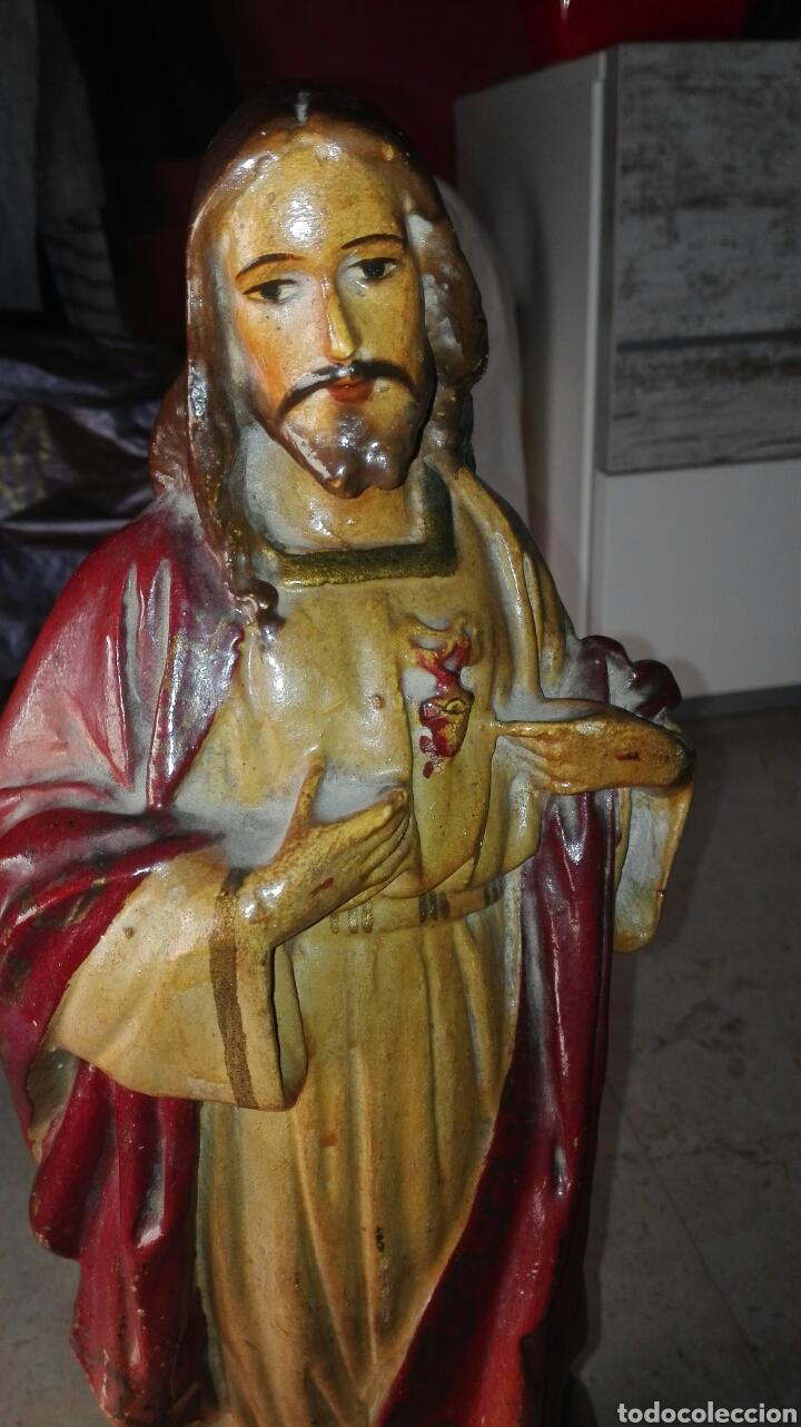 Arte: Escultura Sagrado Corazón de Jesús - Foto 3 - 77318114