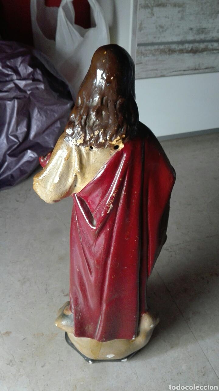 Arte: Escultura Sagrado Corazón de Jesús - Foto 5 - 77318114