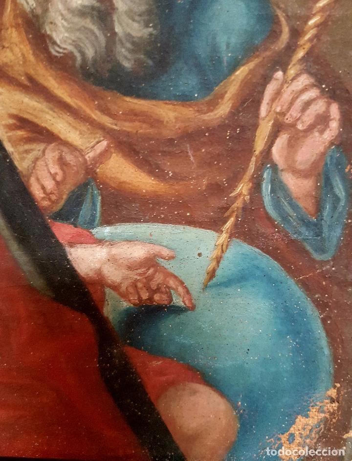 Arte: PRECIOSO OLEO LIENZO,LA SANTISIMA TRINIDAD,S. XVIII - Foto 9 - 77363813