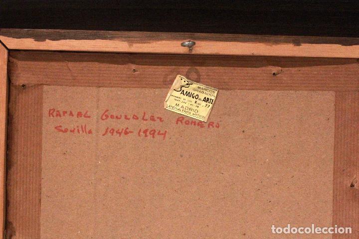 Arte: RAFAEL GONZALEZ ROMERO, SEVILLA. LITOGRAFIA FIRMADA A MANO Y NUMERADA. 11/25. DIFICIL! - Foto 4 - 77462085