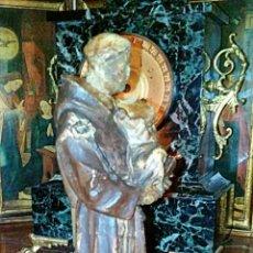 Arte: IMAGEN RELIGIOSA. SAN ANTONIO DE PADUA, TALLA EN MADERA POLICROMADA. SIGLO XVIII. Lote 77474579