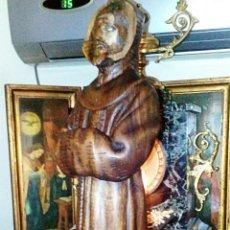 Arte: IMAGEN RELIGIOSA. SAN FRANCISCO DE ASIS. TALLA EN MADERA DEL SIGLO XVIII. GRAN EXPRESION EN S ROSTRO. Lote 77475185