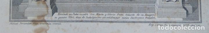 Arte: VERDADERO RETRATO DE LA MILAGROSA IMAGEN DE S. MIGUEL DE EXCELSIS MONTE ARALAR NAVARRA 1879 - Foto 2 - 77495465