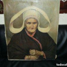 Arte: OLEO ANCIANA RELIGIOSA. MUY ANTIGUA ORDEN.. Lote 77501685