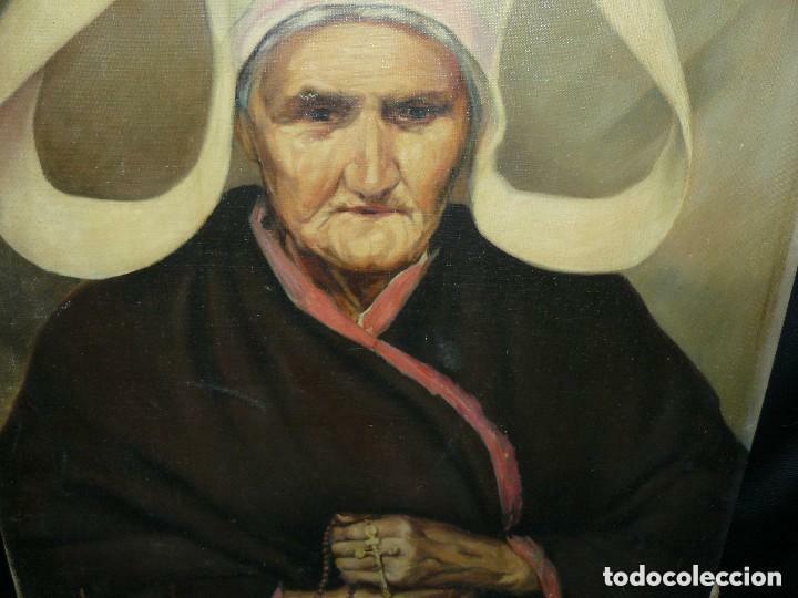 Arte: Oleo anciana religiosa. Muy antigua Orden. - Foto 2 - 77501685