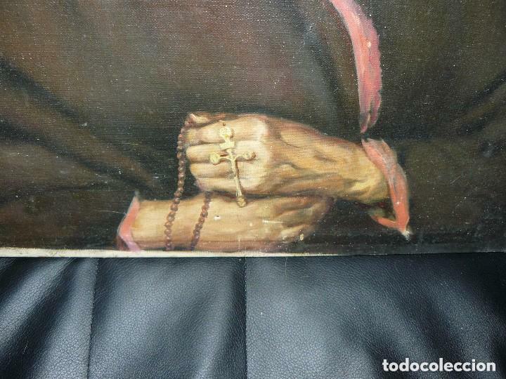 Arte: Oleo anciana religiosa. Muy antigua Orden. - Foto 3 - 77501685