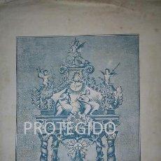 Arte: ANTIGUO GRABADO DE LA IMAGEN DE Nª Sª DE PIETAS PATRONA DEL PUEBLO DE EL FRASNO ZARAGOZA. Lote 78362013