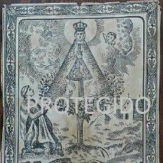 Arte: RETRATO DE NUESTRA SEÑORA DE SALZ DE LA VILLA DE ZUERA ZARAGOZA. Lote 78365997