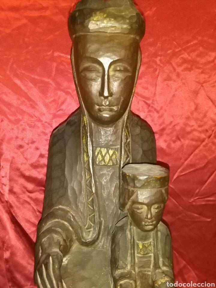Arte: Virgen con niño, de madera tallada, firmada, Genoves. - Foto 2 - 78381997