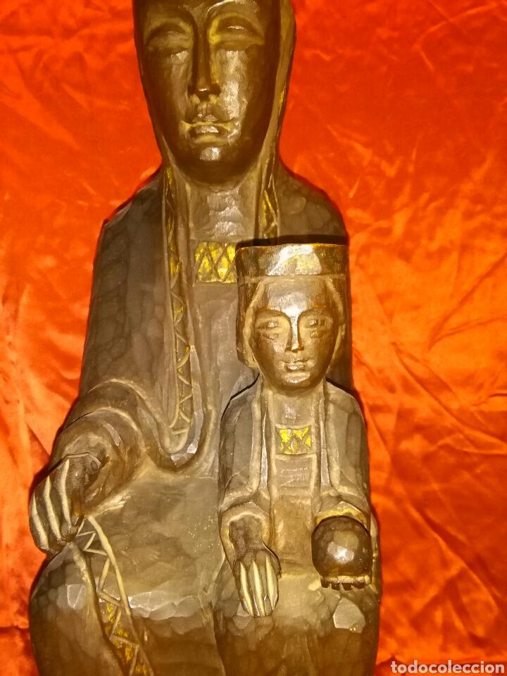 Arte: Virgen con niño, de madera tallada, firmada, Genoves. - Foto 3 - 78381997