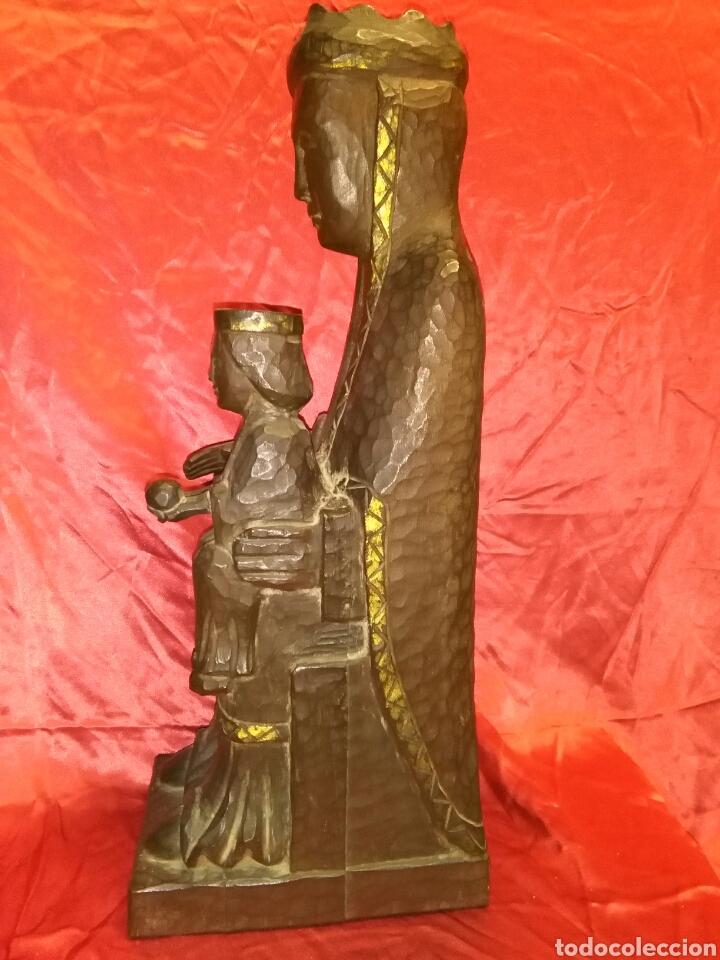 Arte: Virgen con niño, de madera tallada, firmada, Genoves. - Foto 8 - 78381997