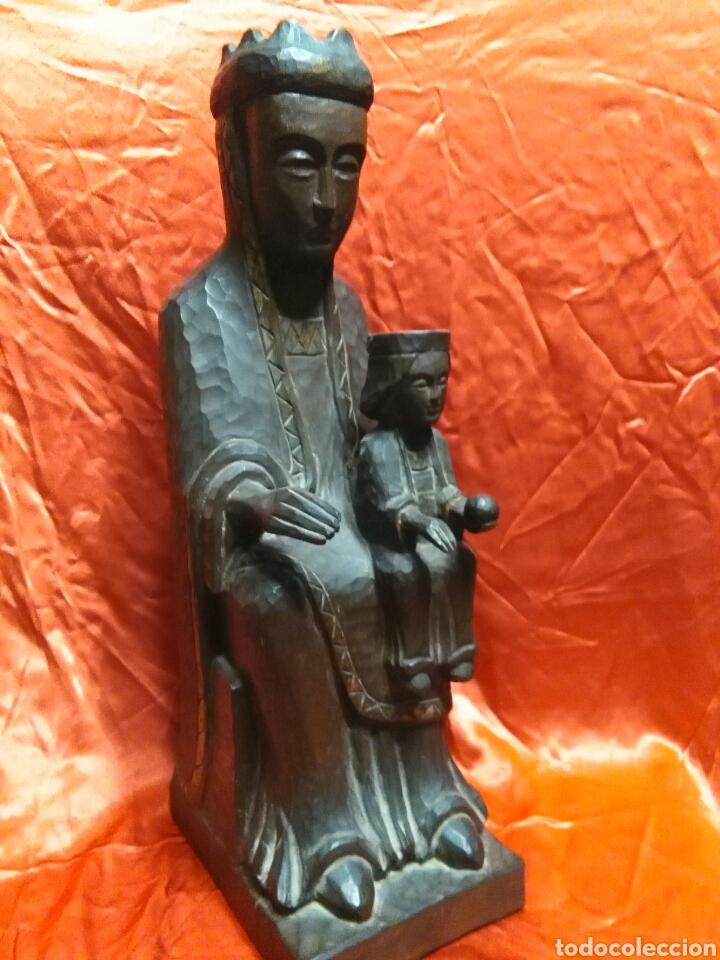 Arte: Virgen con niño, de madera tallada, firmada, Genoves. - Foto 11 - 78381997