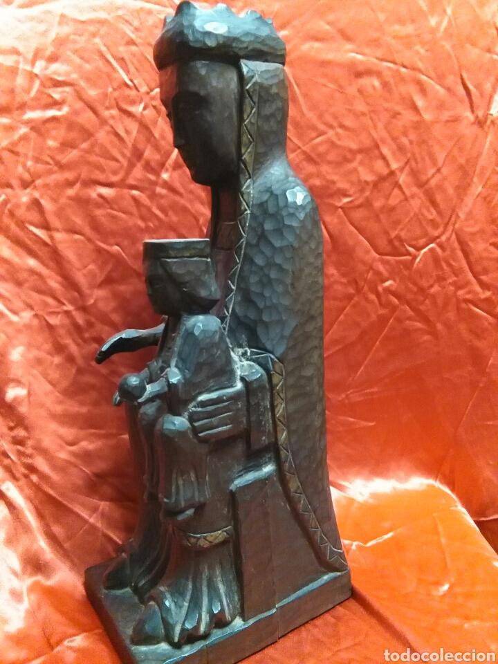 Arte: Virgen con niño, de madera tallada, firmada, Genoves. - Foto 15 - 78381997