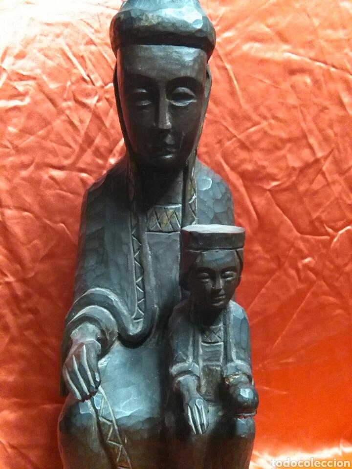 Arte: Virgen con niño, de madera tallada, firmada, Genoves. - Foto 17 - 78381997