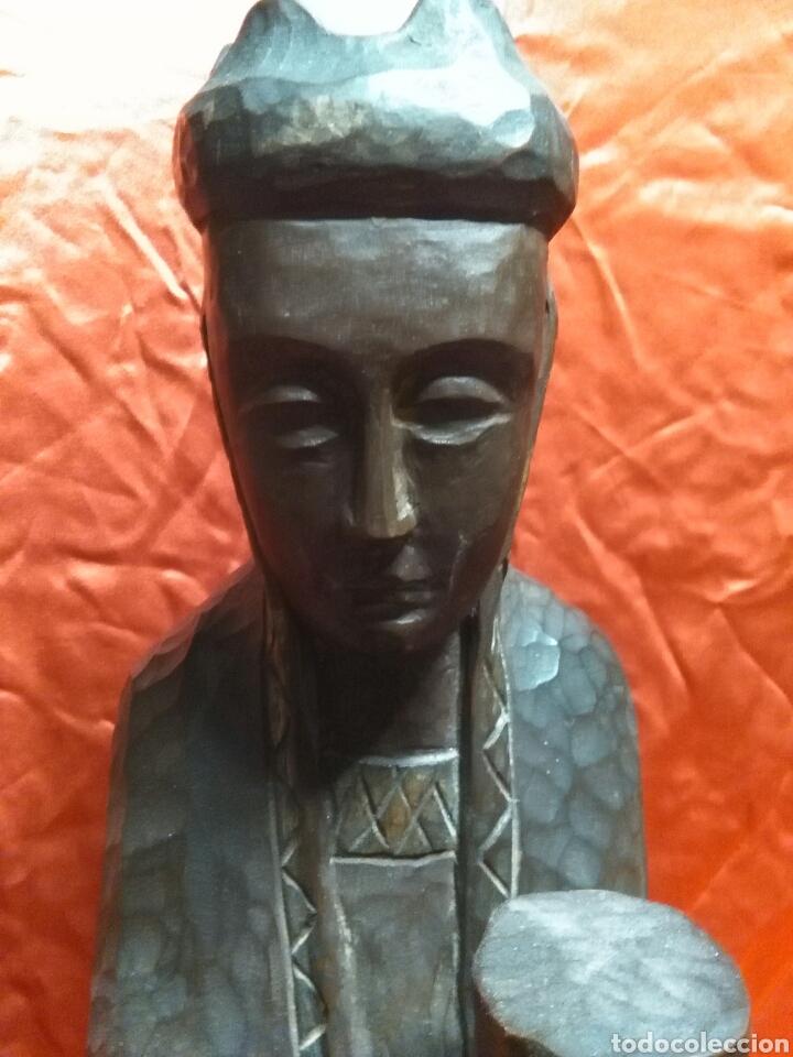Arte: Virgen con niño, de madera tallada, firmada, Genoves. - Foto 19 - 78381997