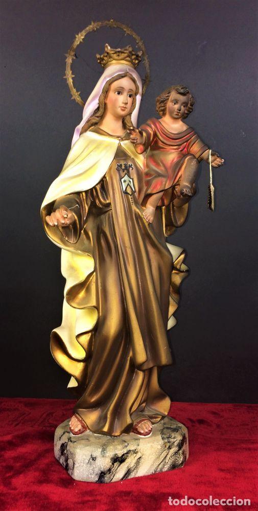 VIRGEN DEL CARMEN. ESTUCO POLICROMADO. XIX-XX (Arte - Arte Religioso - Escultura)