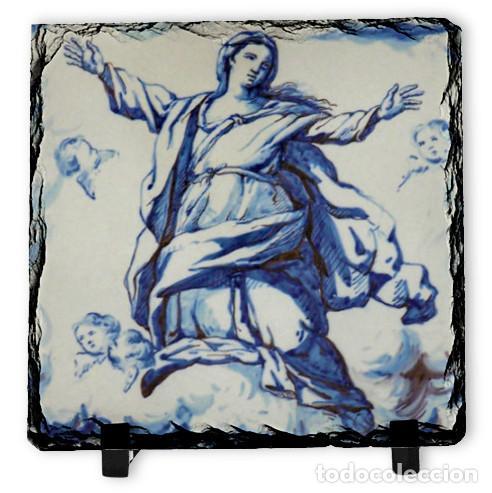PIZARRA 10X10 DE LA ASUNCIÓN DE MARIA (Arte - Arte Religioso - Pintura Religiosa - Otros)