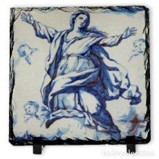 Arte: PIZARRA 10X10 DE LA ASUNCIÓN DE MARIA. Lote 179200746