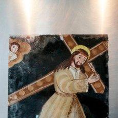Arte: ANTIGUA PINTURA RELIGIOSA SOBRE CRISTAL. Lote 80359219