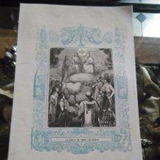 Arte: REF - KK - 1853 ANTIGUO GRABADO ORIGINAL CON ORLA AZUL - LA FIESTA DE TODOS LOS SANTOS. Lote 79108089
