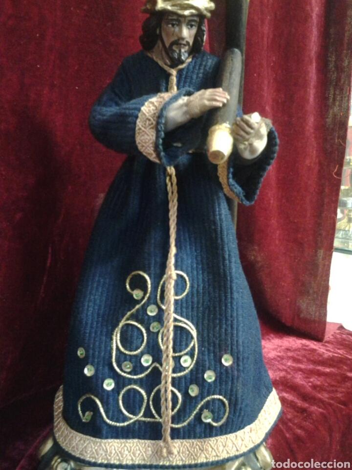 ANTIGUISIMO CRISTO DEL GRAN PODER CON OJOS DE CRISTAL (Arte - Arte Religioso - Escultura)