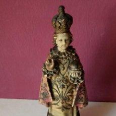 Arte: ANTIGUO NIÑO JESUS DE PRAGA ( TALLERES DE OLOT). Lote 79112009