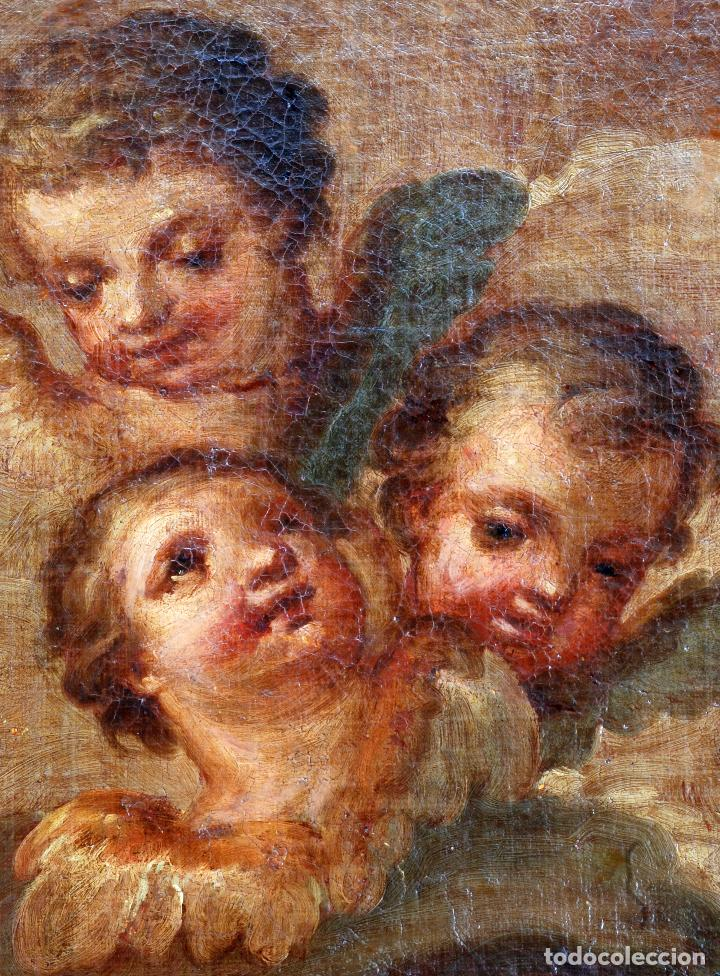 Arte: Oleo lienzo Inmaculada Isidoro de Tapia (Valencia 1712 - Madrid 1778) XVIII - Foto 5 - 79263621