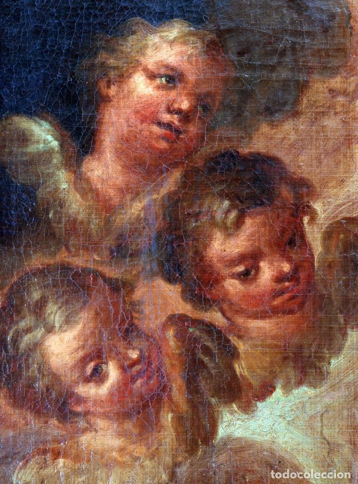 Arte: Oleo lienzo Inmaculada Isidoro de Tapia (Valencia 1712 - Madrid 1778) XVIII - Foto 6 - 79263621