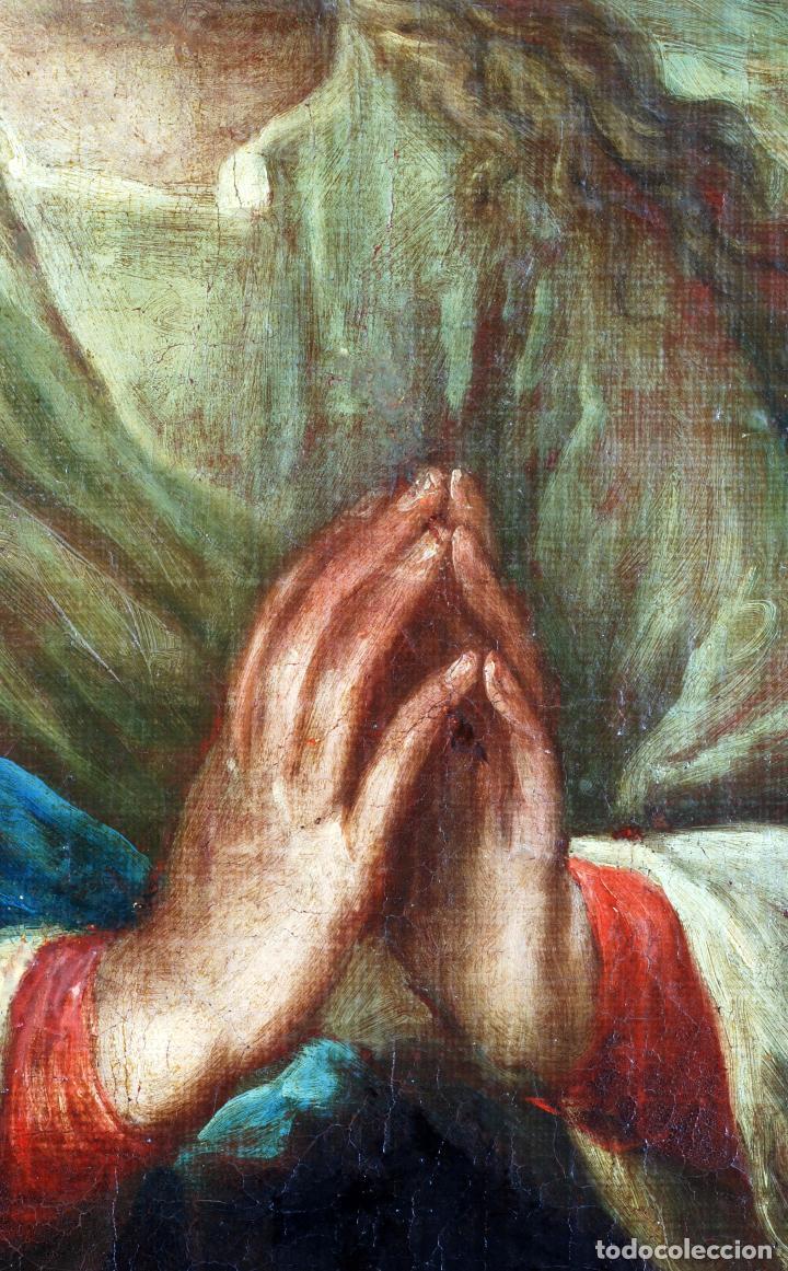 Arte: Oleo lienzo Inmaculada Isidoro de Tapia (Valencia 1712 - Madrid 1778) XVIII - Foto 8 - 79263621