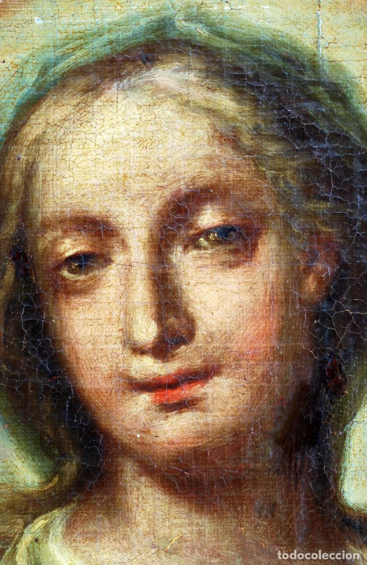 Arte: Oleo lienzo Inmaculada Isidoro de Tapia (Valencia 1712 - Madrid 1778) XVIII - Foto 9 - 79263621