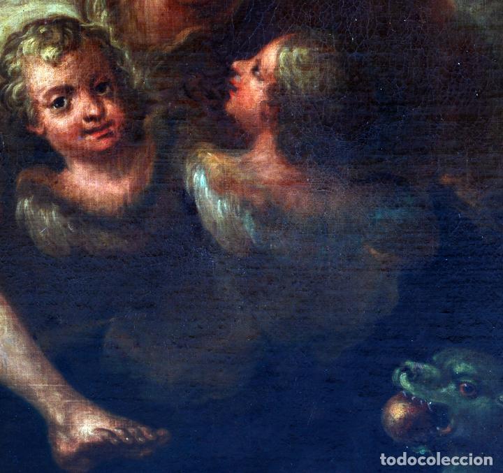 Arte: Oleo lienzo Inmaculada Isidoro de Tapia (Valencia 1712 - Madrid 1778) XVIII - Foto 11 - 79263621