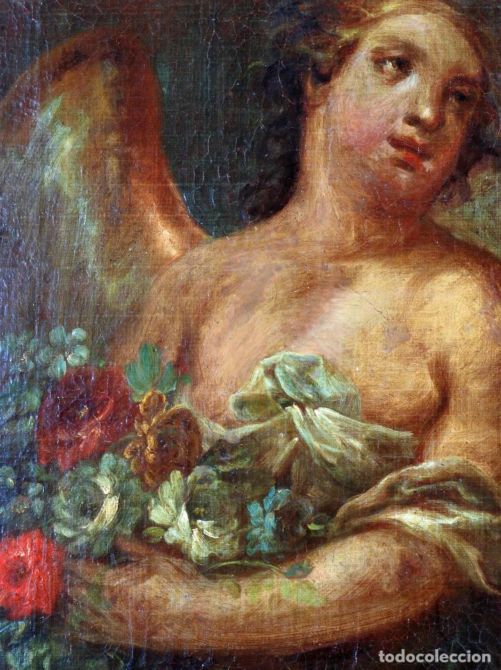Arte: Oleo lienzo Inmaculada Isidoro de Tapia (Valencia 1712 - Madrid 1778) XVIII - Foto 14 - 79263621