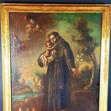 Arte: SAN ANTONIO DE PADUA. ÓLEO SOBRE LIENZO. ESPAÑA. XVII-XVIII. Lote 79857129